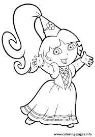 coloring pages girls dora princess1992 coloring pages printable