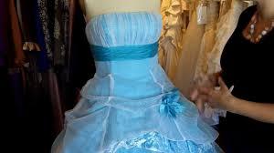 sky blue and white wedding dress youtube