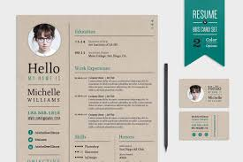 creative resume u0026 business card set resume templates creative