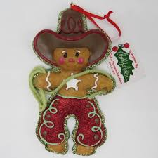 gingerbread ornaments kurt adler gingerbread cowboy ornaments w3651 holidays and