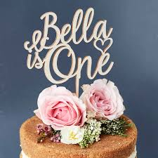 personalised children u0027s birthday cake topper by sophia victoria