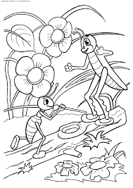 coloring ant and the grasshopper u0026 raquo coloring for kids print