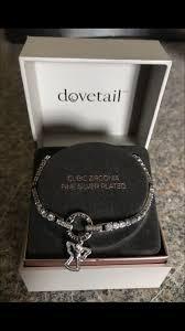 fine silver plated bracelet images Dovetail cubic zirconia fine silver plated angel bracelet jewelry jpg