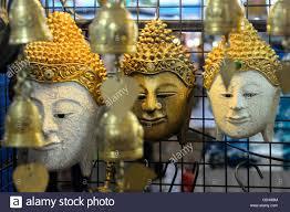 ornamental masks for sale at anusarn market chiang mai thailand