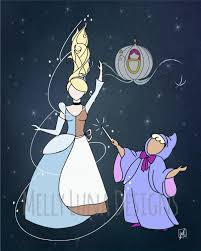 cinderella inspired print bibbity bobbity fairy godmother