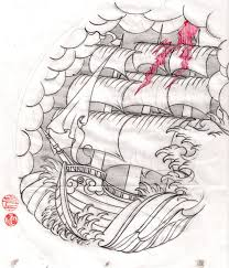 pirate ship and waves tattoos real photo pictures images and