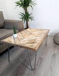 reclaimed timber coffee table kalasaba chevron pattern top reclaimed timber coffee table