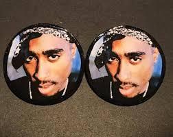 tupac earrings 2pac earrings etsy