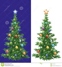 tree with decorations royalty free stock photos image