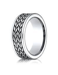 tire wedding ring teramo s cobalt wedding band with tire tread pattern wedding