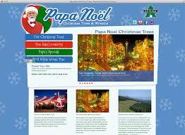 papa noel trees web site design