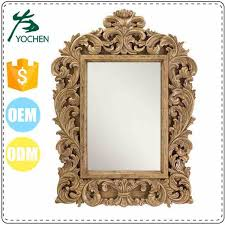 carved wood framed wall wall resin wood framed luxury wood carving mirror frame buy wood