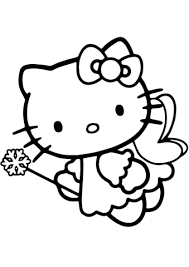 kitty fairy coloring free printable coloring pages