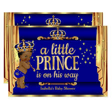 royal blue and gold baby shower royal blue gold drapes prince baby shower ethnic card zazzle