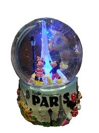 light up snow globe snow globe mickey and minnie mouse eiffel tower light up