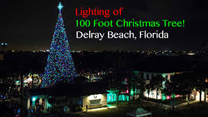 how many christmas lights per foot of tree delray beach christmas tree lighting 2015 youtube