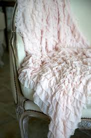 shabby chic white quilt soft ruffled throw blanket photography prop white cream
