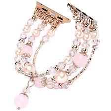 pearl bracelet elastic images Tomazon apple watch band fashion handmade elastic jpg