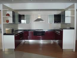 Peninsula Kitchen Designs by Alluring U Shape Modern Kitchen With Peninsula Features Brown