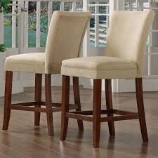 achillea counter height stool microfiber set of 2 dining