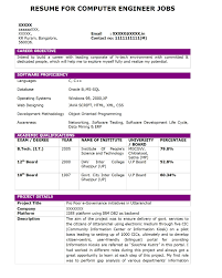 resume format for b tech students resume format computer engineering frizzigame cover letter resume format for computer operator resume format for