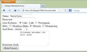 membuat ktp dengan html belajar html dasar cara membuat form di html tag form duniailkom