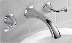 bathtub faucet wall mount adorable delta 3592lf wl addison two handle wall mount bathroom