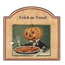 vintage halloween jack o u0027lantern tags instant digital