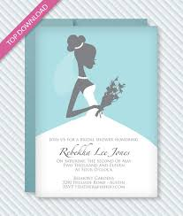 bridal invitation templates bridal shower invitation template print