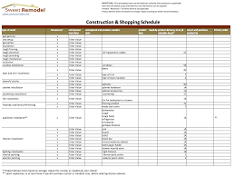 Building Cost Spreadsheet As Noted In The Remodeling Shopping Schedule Article This