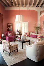 living room blue and pink painted walls powder pink room large