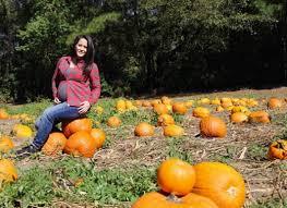 pumpkin patch maternity jenelle shows big baby bump the gossip