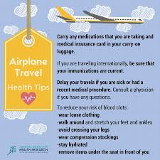 traveling tips images 5 airplane travel health tips national center for health research jpg