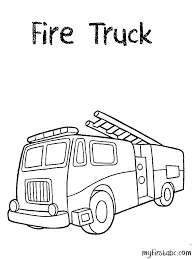 fire truck coloring abc