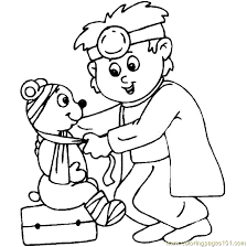 doctor coloring free doctor coloring pages
