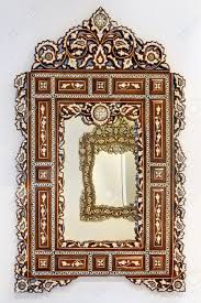 Morroco Style by Antique Moroccan Style Mirror With Decorative Wooden Frame Stock