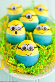 easter eggs dyed minion easter eggs a pumpkin and a princess