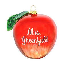 personalized apple glass ornament food beverage