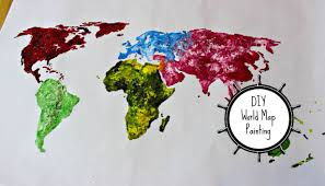 Picture Of A World Map by Diy World Map Painting Thoserosiedays Youtube
