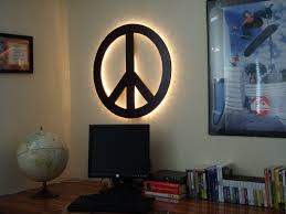 Home Decor Wall Signs by Peace Sign Wall Art Wall Shelves