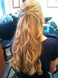 prom hairstyle half up popular long hairstyle idea