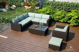 Wicker Sectional Patio Furniture - harmonia living arden 8 piece sectional set wickercentral com