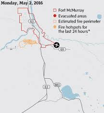 Fort Mcmurray Alberta Canada Map how a perfect storm of conditions led a raging wildfire to the