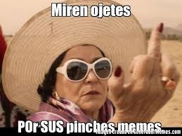 Pinches Memes - miren ojetes por sus pinches memes meme de carmen salinas cool