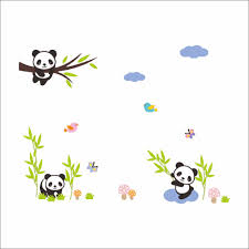 online shop animal panda pamboo train children diy removable wall online shop animal panda pamboo train children diy removable wall stickers parlor kids bedroom home house decoration aliexpress mobile