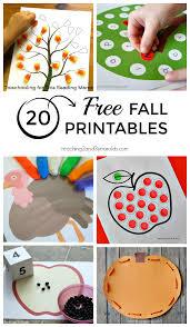 free preschool printables for fall