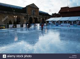 lincoln outdoor ice rink people skating lincoln city lincolnshire