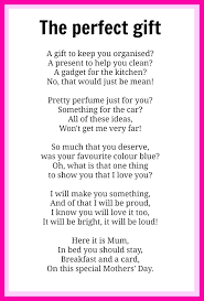 mothers u0027 day poems kidspot