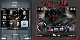 theme maker java mobile9 scary skull theme for nokia c3 x2 01 themereflex