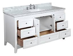Shaker Style Vanity Bathroom by Abbey 60 Inch Single Bathroom Vanity Carrara White Includes